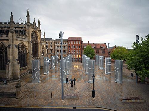 Galvanised Steel Columns