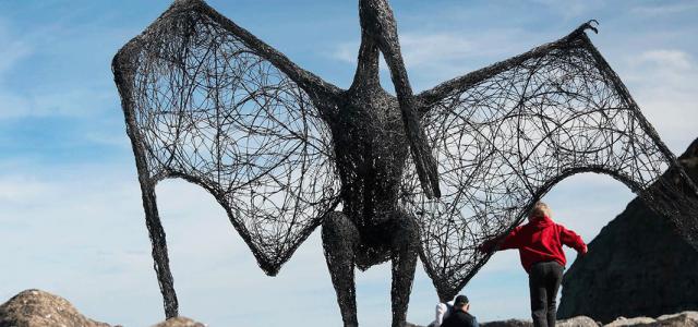 Boulby Pteradactyl - Emma Stothard Sculpture
