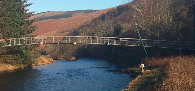 Footbridge over River Tweed at Peebles Scottish Borders - Addison Conservation and Design